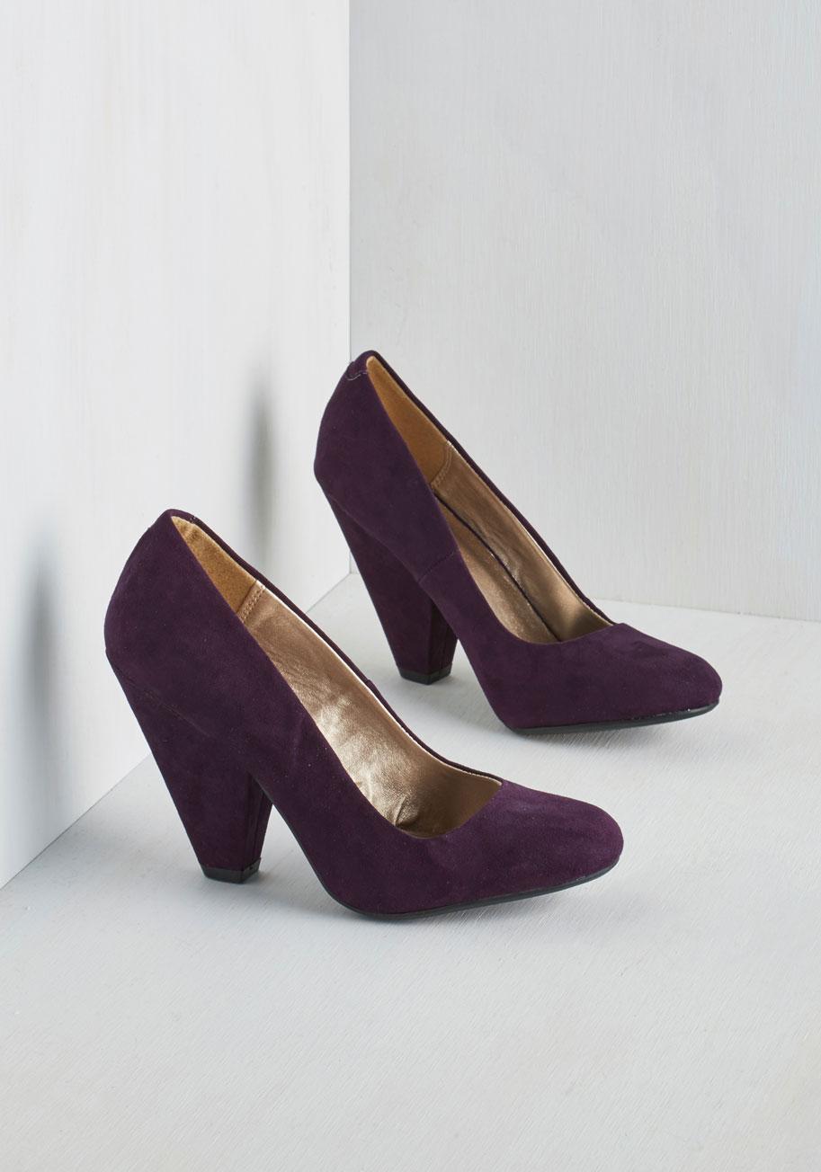 Eggplant Purple Heels