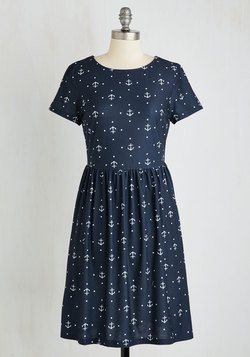 Anchors Array Dress