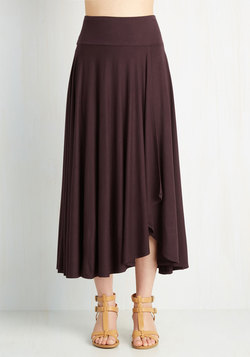 Travel Writing Workshop Skirt in Plum
