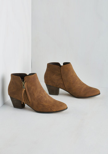 Here, There, and Everywhere Bootie in Taupe