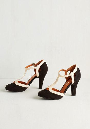 No Limit on Lovely Heel in Monochrome $69.99 AT vintagedancer.com