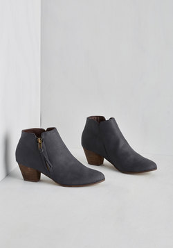 Here, There, and Everywhere Bootie in Navy
