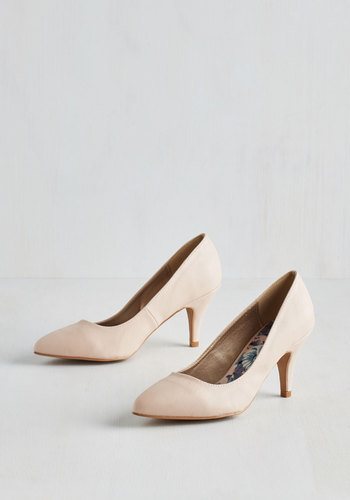Dependably Darling Heel in Beige