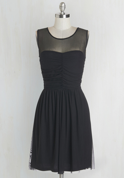 Night and Sway Dress in Noir