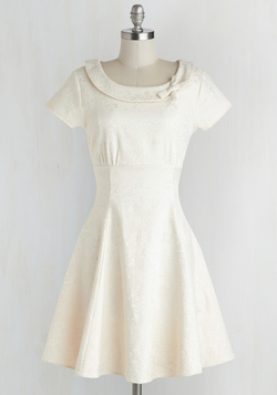 Tickling the Ivories Dress in Creme