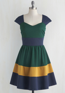 San Francisco Sorbet Dress in Evergreen