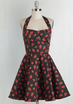 Traveling Cupcake Truck Dress in Strawberries
