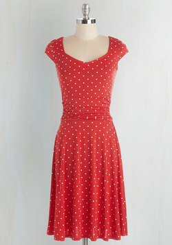 Ready, Wheeling, and Able Dress in Red Dots