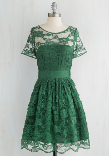 Adrift on a Cloud Dress in Emerald