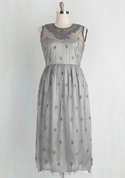 Ethereal Girl Dress in Fog
