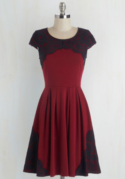 Intermission Impossible Dress in Burgundy