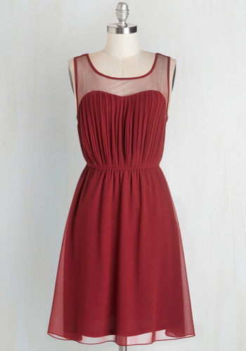 Exquisite on the Equinox Dress in Ruby