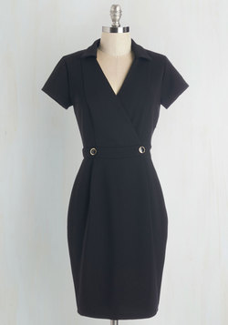 Sophisticated Situation Dress in Black