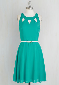 Cutout of this World Dress in Aqua