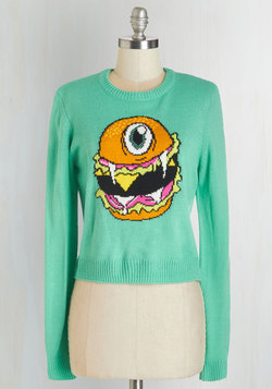 Flying Burger People Eater Sweater