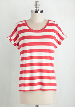 Breezy Basics Top in Red Stripes