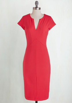 Enterprising Entrepreneur Dress in Scarlet