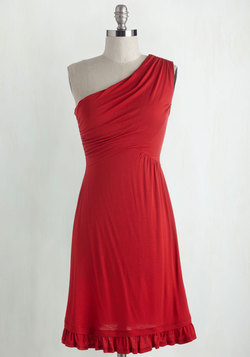 Midnight Sun Dress in Red