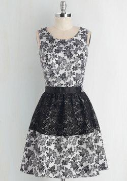 Singing Greyscales Dress