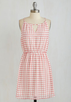Pickin' up Grid Vibrations Dress