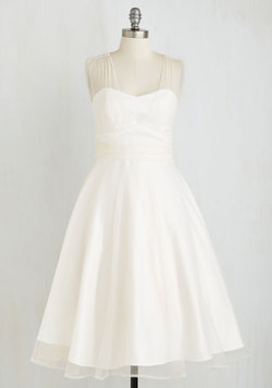 When Life Brings Elegance Dress in White