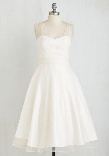 When Life Brings Elegance Dress in White $199.99 AT vintagedancer.com