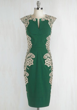 Lakeside Libations Dress in Evergreen
