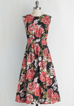 Too Much Fun Dress in Roses - Long