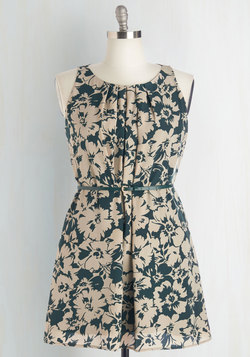 Great Wavelengths Dress in Green Floral