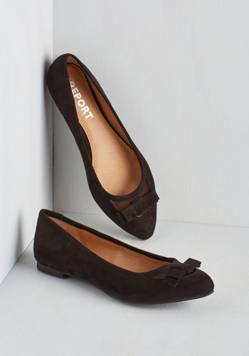 Shall We Dance? Flat in Black - Flat, Faux Leather, Black, Solid, Bows, Party, Work, Casual, Better, Variation