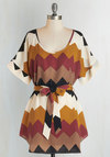 Medium Format Memory Tunic in Autumnal Chevron