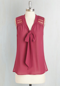 Science of Chic Top in Magenta