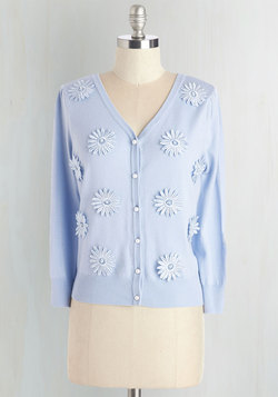Language Lab Cardigan in Periwinkle