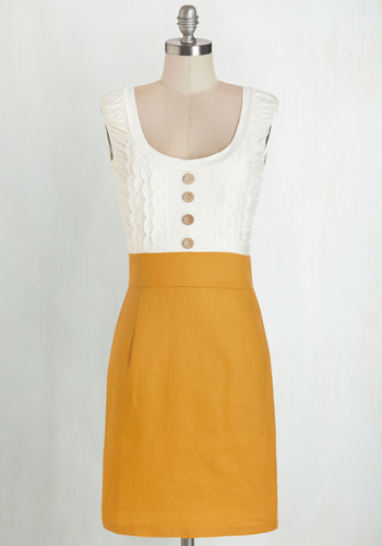 Come in Dandy Dress in Mustard $54.99 AT vintagedancer.com