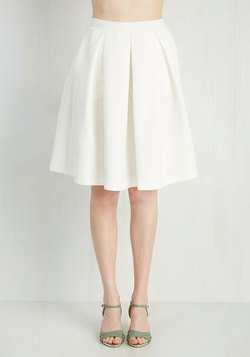 Adorably Yours Skirt in White