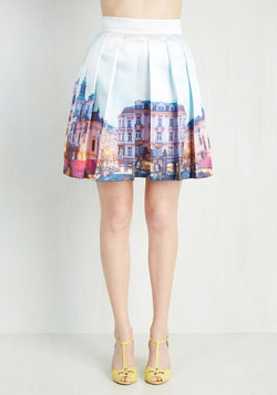 Verbs and Towns Skirt