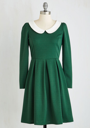 Record Store Date Dress in Forest $64.99 AT vintagedancer.com