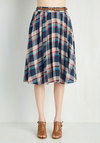 Breathtaking Tiger Lilies Skirt in Plaid