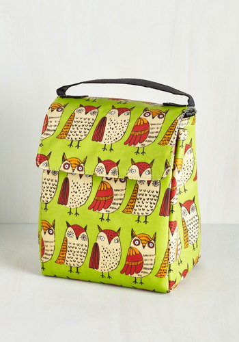 Owl Have What She's Having Lunch Bag - Multi, Owls, Good, Print with Animals, Eco-Friendly, Dorm Decor