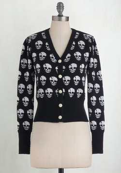 Skulls in Session Cardigan in Black