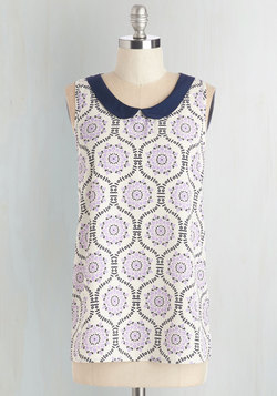 Classy Collector top in Lilac Pattern