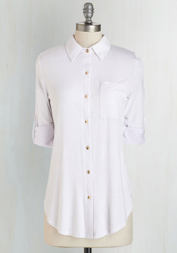 Keep it Casual-Cool Top in White