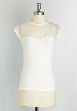 The Answer is Sheer Top in Ivory