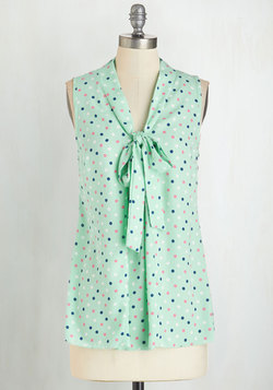 South Florida Spree Top in Mint Dots