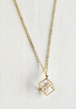Cube and Me Together Necklace