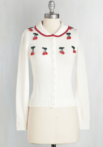 Cherry on Your Sunday Cardigan