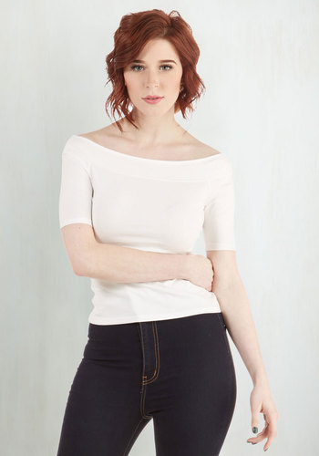 Practical Panache Top in White