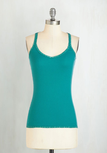 Founded in Fashion Top in Teal