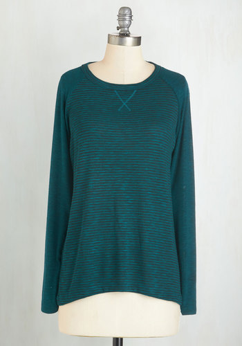 One, Two, Three, Knit It! Top in Teal