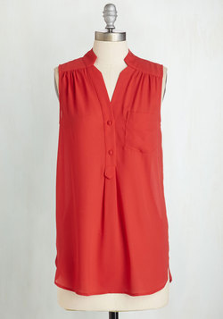 Girl About Scranton Tunic in Red
